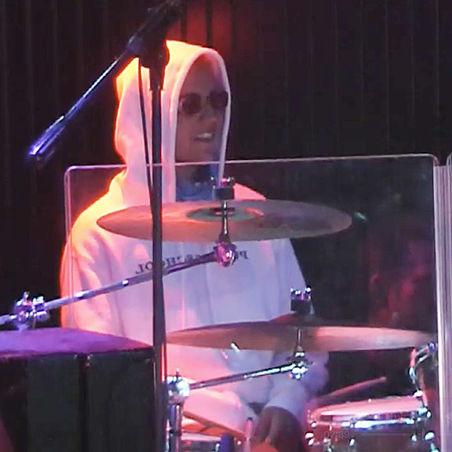 Justin Bieber drum solo at Mozambique in Laguna Beach